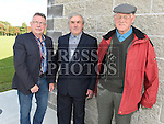 Eugene Lane, Joseph Brennan and Eddie Rogers pictured at the official opening of St. Kevin's Community Centre in Phillipstown. Photo:Colin Bell/pressphotos.ie