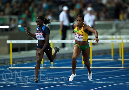 19 AUG 2009 - BERLIN, GER - Brigitte Foster-Hylton (JAM) wins the Womens 100m Hurdles Final at the World Athletics Championships (PHOTO (C) NIGEL FARROW)