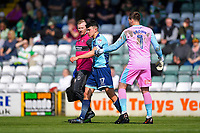 Luke O'Nien of Wycombe Wanderers (17) leaves the field after being injured during Yeovil Town vs Wycombe Wanderers, Sky Bet EFL League 2 Football at Huish Park on 14th April 2018