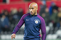 Fabian Delph of Manchester City warms up for the EPL - Premier League match between Swansea City and Manchester City at the Liberty Stadium, Swansea, Wales on 13 December 2017. Photo by Mark  Hawkins / PRiME Media Images.