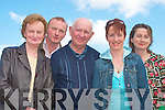 Enjoying the fine weather and music at the Fladh by the Feale on Sunday were Susie O'Riordan, Abbeyfeale, Gerard Curtin Brosna, Jerry O'Riordan, Abbeyfeale, Mariead Curtin , Brosna and Aileen Dillon, Listowel..   Copyright Kerry's Eye 2008
