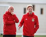 19.3.2018: Scotland u21 training:<br /> Peter Houston and Scot Gemmill
