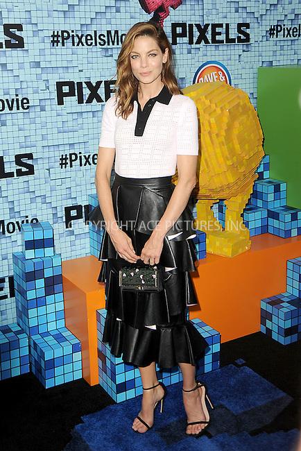 WWW.ACEPIXS.COM<br /> July 18, 2015 New York City<br /> <br /> Michelle Monaghan attending the 'Pixels' Premiere at Regal E-Walk on July 18, 2015 in New York City.<br /> <br /> Please byline: Kristin Callahan/ACE <br /> <br /> <br /> Tel: (646) 769 0430<br /> e-mail: info@acepixs.com<br /> web: http://www.acepixs.com