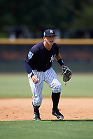 New York Yankees third baseman Kyle Gray (2) during a Florida Instructional League game against the Pittsburgh Pirates on September 25, 2018 at Yankee Complex in Tampa, Florida.  (Mike Janes/Four Seam Images)