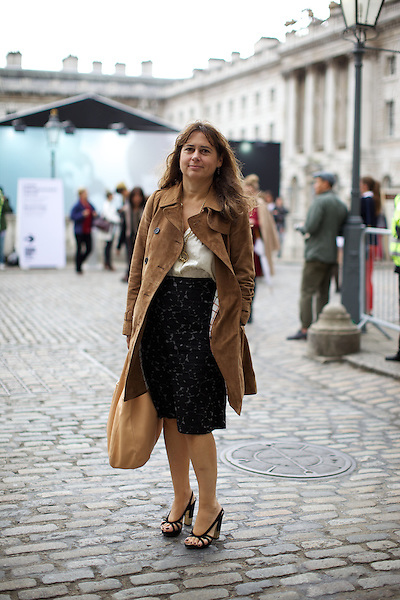 Alexandra Shulman Editor of Vogue at London Fashion Week