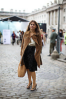 Alexandra Shulman Editor of Vogue at London Fashion Week