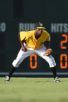 Bradenton Marauders outfielder Raul Fortunato (35) during a game against the Palm Beach Cardinals on June 23, 2014 at McKechnie Field in Bradenton, Florida.  Bradenton defeated Palm Beach 11-6.  (Mike Janes/Four Seam Images)