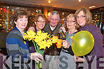 COFFEE TIME: Preparing for a busy morning in the Killarney Towers Hotel for the Kerry South branch of the Irish Cancer Society from l-r were: KAthleen O'Shea, Nora and Tim Moriarty, Maureen Fogarty and Kathrina Breen.