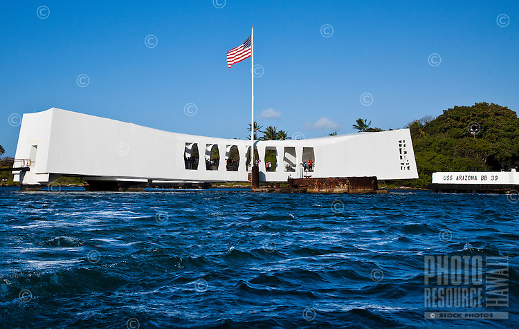The USS Arizona Memorial, Pearl Harbor, Oahu