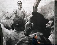 SÃO PAULO,SP,04 MAIO 2012 - TREINO CORINTHIANS <br /> O tecnico Tite durante treino do Corinthians no CT Joaquim Grava, no Parque Ecologico do Tiete, zona leste de Sao Paulo, na tarde desta sexta-feira 04. FOTO ALE VIANNA - BRAZIL FOTO PRESS