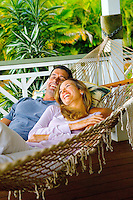 Couple in Tropical Hammock #1