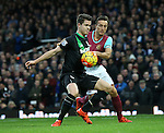 West Ham's Mark Noble tussles with Stoke's Marco Van Ginkel<br /> <br /> Barclays Premier League - West Ham United v Stoke City - Upton Park - England -12th December 2015 - Picture David Klein/Sportimage