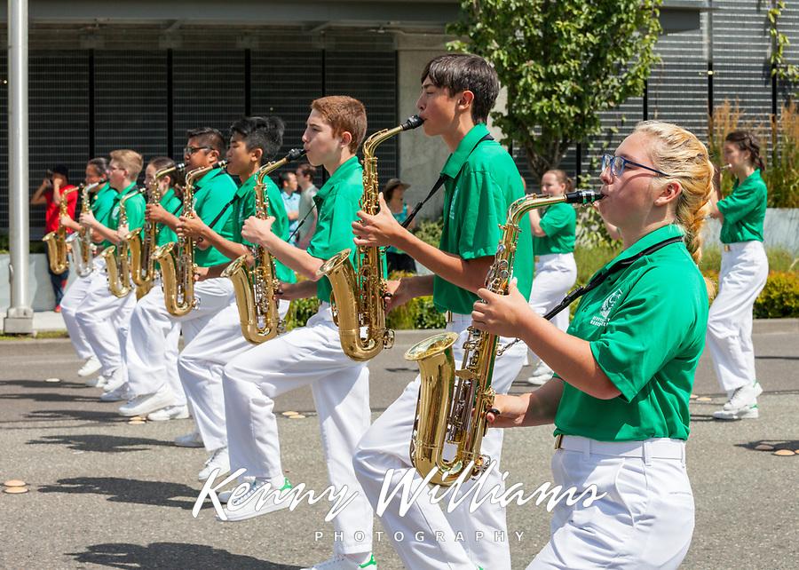Seattle All-City Marching Band, Kent Cornucopia Days 2017, Kent, WA, USA.