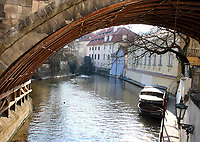 Waterway to Kampa Island, Prague, Czech Republic on February 28th to March 3rd 2018<br /> CAP/ROS<br /> &copy;ROS/Capital Pictures