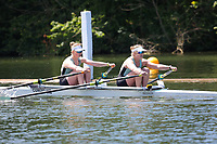 Race: 14  Event: Championship 2x<br /> Crew: 409  Club: Exeter Univ<br /> Crew: 410  Club: Camb. Univ W (B)<br /> <br /> Henley Women's Regatta 2018<br /> Friday<br /> <br /> To purchase this photo, or to see pricing information for Prints and Downloads, click the blue 'Add to Cart' button at the top-right of the page.