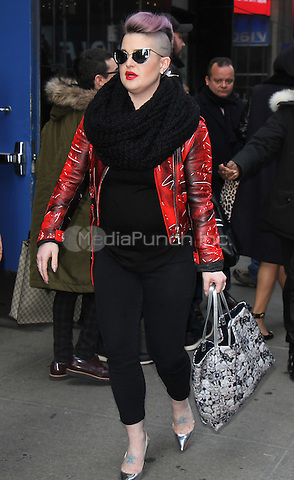 NEW YORK, NY - DECEMBER 21:  Kelly Osbourne at Good Morning America to judge the X-Mas sweater contest in New York City on December 21, 2016. Credit: RW/MediaPunch