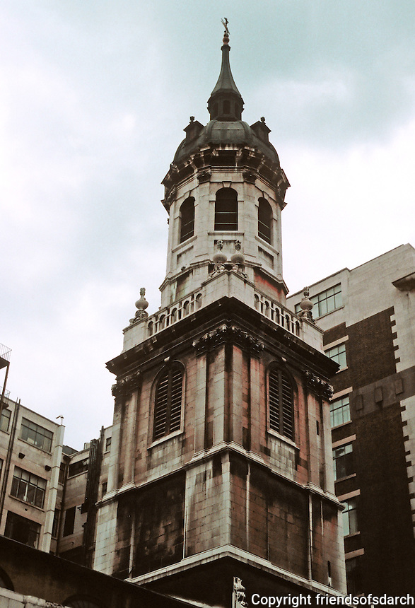 Sir Christopher Wren: St. Magnus Spire, London.