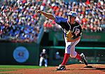 3 July 2010: Washington Nationals starting pitcher Stephen Strasburg on the mound against the New York Mets at Nationals Park in Washington, DC. Strasburg pitched a no-decision as the Nationals rallied in the bottom of the 9th to defeat the Mets 6-5 in the third game of their 4-game series. Mandatory Credit: Ed Wolfstein Photo