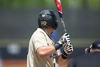 Keegan Maronpot (13) of the Wake Forest Demon Deacons at bat against the Pitt Panthers at David F. Couch Ballpark on May 20, 2017 in Winston-Salem, North Carolina. The Demon Deacons defeated the Panthers 14-4.  (Brian Westerholt/Four Seam Images)