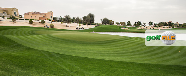 15th green at The Els Club , Dubai, United Arab Emirates.  28/01/2016. Picture: Golffile | David Lloyd<br /> <br /> All photos usage must carry mandatory copyright credit (&copy; Golffile | David Lloyd)