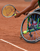 August 6, 2014, Netherlands, Rotterdam, TV Victoria, Tennis, National Junior Championships, NJK, Wheelchair final:  Carlos Anker(NED)<br /> Photo: Tennisimages/Henk Koster