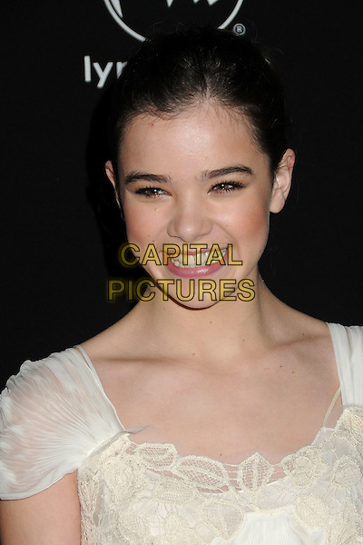 HAILEE STEINFELD .2011 Santa Barbara Film Festival - Virtuosos Awards held at the Lobero Theatre,  Santa Barbara, California, USA, 4th February 2011..portrait headshot smiling  cream white .CAP/ADM/BP.©Byron Purvis/AdMedia/Capital Pictures.
