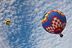 Charlotte NC- Statesville Balloon Rally, held in Statesville NC, attracts thousands to watch colorful hot air balloons launch from a field.
