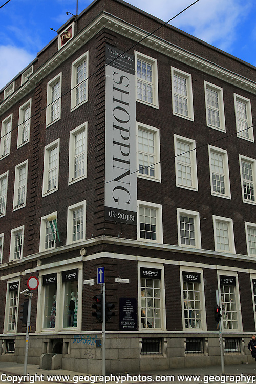 Telegrafen department store shopping centre building, city of Bergen, Norway