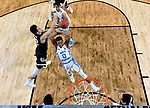 GLENDALE, AZ - APRIL 03: Zach Collins #32 of the Gonzaga Bulldogs gets a block on Nate Britt #0 of the North Carolina Tar Heels during the 2017 NCAA Men's Final Four National Championship game at University of Phoenix Stadium on April 3, 2017 in Glendale, Arizona.  (Photo by Chris Steppig/NCAA Photos via Getty Images)