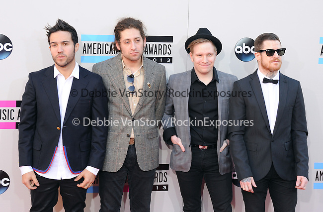 LOS ANGELES, CA - NOVEMBER 24: Fall Out Boy arrives at   The 2013 American Music Awards held at Nokia Live in Los Angeles, California on November 24,2013                                                                               © 2013 Hollywood Press Agency