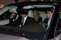 Miguel Boyer´s son Miguel Boyer visits San Isidro funeral home following the death of Miguel Boyer in Madrid, Spain. September 29, 2014. (ALTERPHOTOS/Victor Blanco) /nortephoto.com