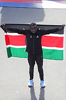 Nova York (EUA), 03/11/2019 - Maratona de Nova York -  Joyciline Jepkosgei, do Quênia, assistiu depois de vencer a Divisão Feminina da Maratona TCS de Nova York 2019 em 3 de novembro de 2019 na cidade de Nova York. (Foto: William Volcov/Brazil Photo Press)