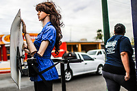 Series: Woman Object.<br /> A robot mannequin in the shape of a woman announces school pants in avenue of the Yaquis and Carlos Balderrama in the Sahuaro colony, this type of publicity object has caused annoyance among feminists in the town of Hermosillo, Sonora Mexico. 6December2007<br /> (Photo: Luis Gutierrez /NortePhoto.com)<br /> <br /> Serie: Mujer Objeto.<br /> Un maniqu&iacute; robot con forma de mujer anuncia pants escolares en avenida de los Yaquis y Carlos Balderrama en la colonia Sahuaro, este tipo de objetos publicitario ha causado molestia entre las feministas de la localidad de Hermosillo, Sonora Mexico. 6diciembre2007<br /> (Foto: Luis Gutierrez /NortePhoto.com)