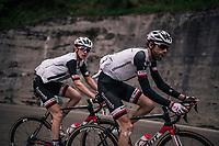 Laurens ten Dam (NED/Sunweb) & Chad Haga (USA/Sunweb) up the Passo di Sant'Antonio<br /> <br /> stage 15: Tolmezzo – Sappada (176 km)<br /> 101th Giro d'Italia 2018