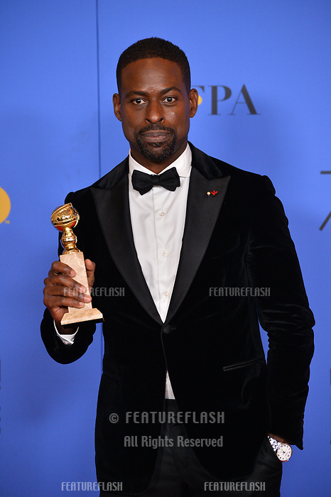 Sterling K. Brown at the 75th Annual Golden Globe Awards at the Beverly Hilton Hotel, Beverly Hills, USA 07 Jan. 2018<br /> Picture: Paul Smith/Featureflash/SilverHub 0208 004 5359 sales@silverhubmedia.com