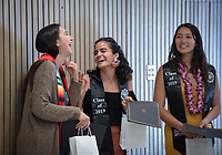 Graduating seniors, faculty and staff gather for the Multi Graduation Celebration, in Lower Herrick Memorial Chapel on Thursday, May 16, 2019.<br /> (Photo by Marc Campos, Occidental College Photographer)