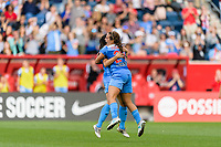 Bridgeview, IL - Sunday June 25, 2017: Vanessa DiBernardo, Danielle Colaprico during a regular season National Women's Soccer League (NWSL) match between the Chicago Red Stars and Sky Blue FC at Toyota Park. The Red Stars won 2-1.