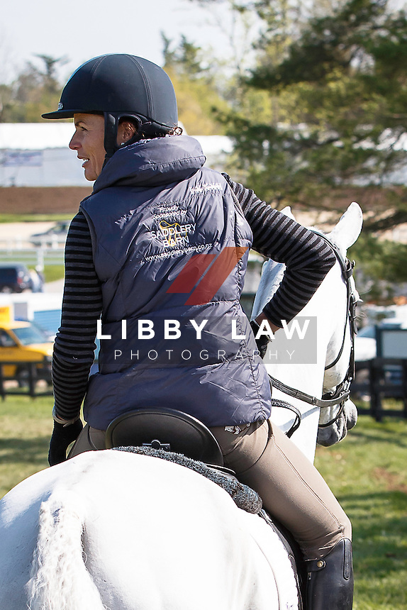 NZL-Emily Cammock (DAMBALA) looking relaxed heading to the Stadium for their Arena Familiarisation: 2015 USA-Rolex Kentucky Three Day Event CCI4* (Wednesday 22 April) CREDIT: Libby Law COPYRIGHT: LIBBY LAW PHOTOGRAPHY