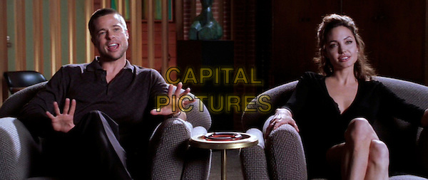 BRAD PITT & ANGELINA JOLIE .in Mr. & Mrs Smith.Ref: PLF.*Editorial Use Only*.www.capitalpictures.com.sales@capitalpictures.com.Supplied by Capital Pictures.
