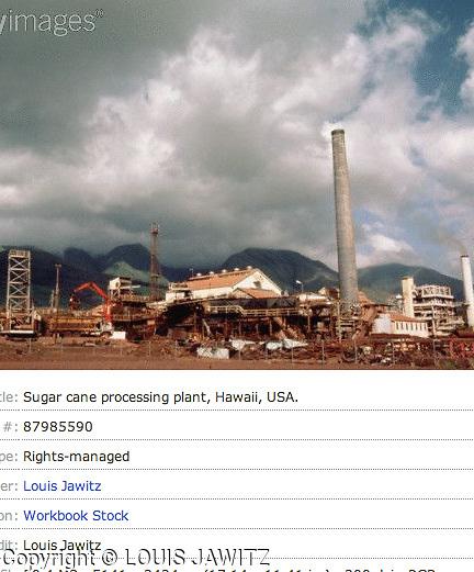 Sugar cane processing plant, Hawaii, USA.