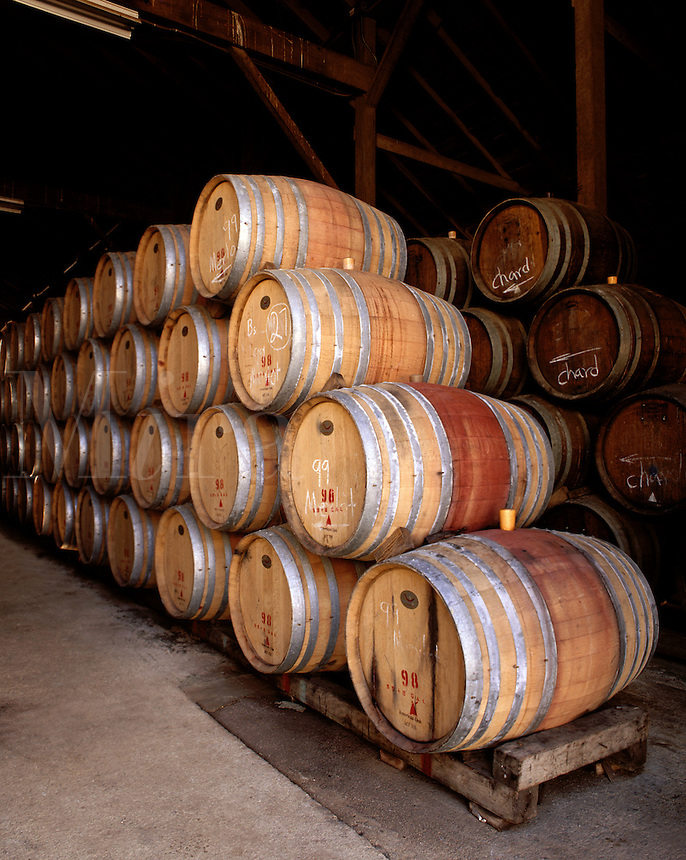 OAK BARREL CASKS for AGING WINE - MONTEREY COUNTY, CALIFORNIA.