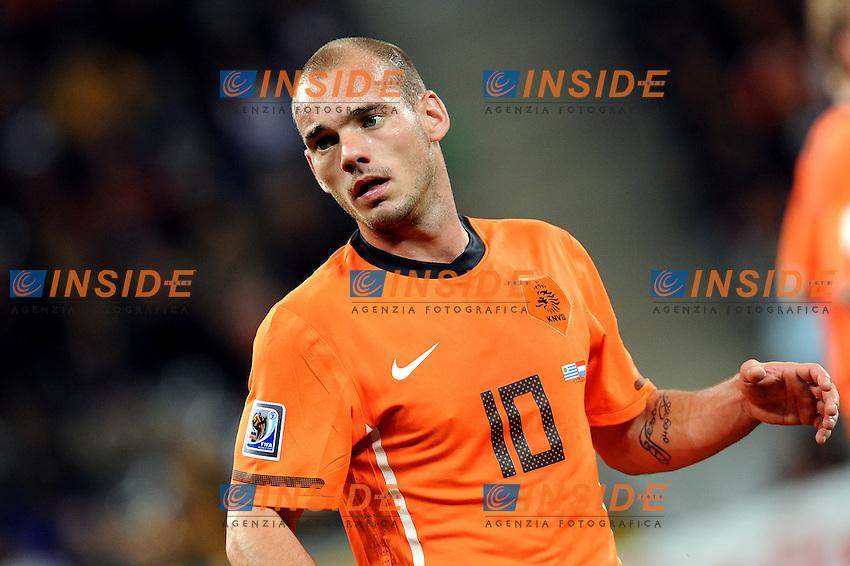 Wesley Sneijder (Olanda)<br /> Uruguay Olanda 2-3 - Uruguay vs Netherlands 2-3<br /> Semifinale - Semifinal<br /> Campionati del Mondo di Calcio Sudafrica 2010 - World Cup South Africa 2010<br /> Green Point Stadium, Cape Town  06/07/2010<br /> &copy; Giorgio Perottino / Insidefoto