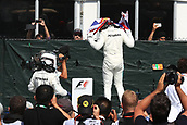 June 11th 2017, Circuit Gilles Villeneuve, Montreal Quebec, Canada; Formula One Grand Prix, Race Day; Lewis Hamilton - Mercedes AMG Petronas wins in Canada and waves a Union Jack flag