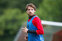 Joe Allen during Wales national team training at Vale Resort, Hensol, Wales on 4 September 2017, ahead of the side's World Cup Qualification match against Moldova. Photo by Mark  Hawkins.