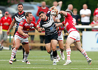 Rhys Williams in action for London during the Kingstone Press Championship game between London Broncos and Leigh Centurions at Ealing Trailfinders, Ealing, on Sun June 26,2016
