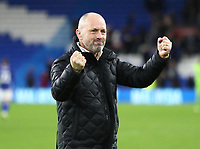 4th February 2020; Cardiff City Stadium, Cardiff, Glamorgan, Wales; English FA Cup Football, Cardiff City versus Reading; Mark Bowen, Manager of Reading celebrates after the 3-4 win after penalties