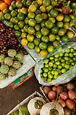 VIETNAM, Hue, an assortment of fruits and vegetables at a rural roadside market