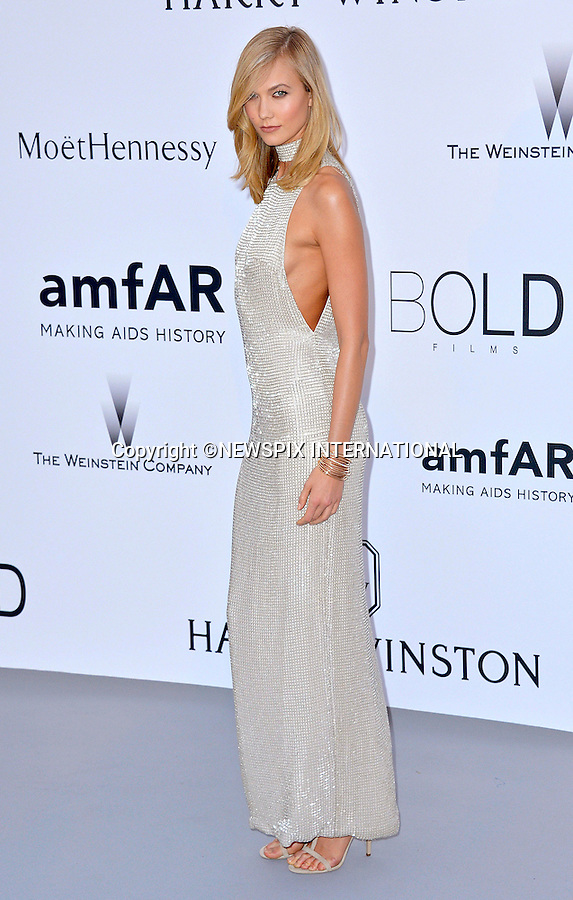 12.05.2015, Antibes; France: KARLIE KLOSS<br /> attends the Cinema Against AIDS amfAR gala 2015 held at the Hotel du Cap, Eden Roc in Cap d'Antibes.<br /> MANDATORY PHOTO CREDIT: &copy;Thibault Daliphard/NEWSPIX INTERNATIONAL<br /> <br /> (Failure to credit will incur a surcharge of 100% of reproduction fees)<br /> <br /> **ALL FEES PAYABLE TO: &quot;NEWSPIX  INTERNATIONAL&quot;**<br /> <br /> Newspix International, 31 Chinnery Hill, Bishop's Stortford, ENGLAND CM23 3PS<br /> Tel:+441279 324672<br /> Fax: +441279656877<br /> Mobile:  07775681153<br /> e-mail: info@newspixinternational.co.uk