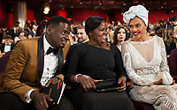 Oscar&reg; nominee Daniel Kaluuya with guests during the live ABC Telecast of The 90th Oscars&reg; at the Dolby&reg; Theatre in Hollywood, CA on Sunday, March 4, 2018.<br /> *Editorial Use Only*<br /> CAP/PLF/AMPAS<br /> Supplied by Capital Pictures