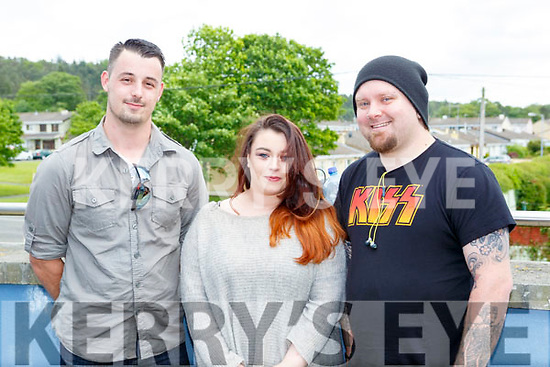 Daniel Dewhurst, Aisling Collins and Harry Cunningham Killarney at The Voice auditions in Killarney School of Music on Tuesday